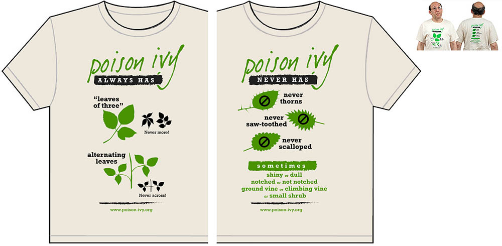 natural poison ivy always-never tshirt