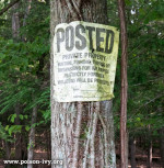 poison ivy trespass sign