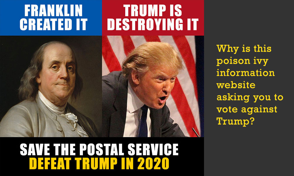 ben franklin donald trump postal attack